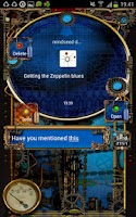 Screenshot of Steampunk GOSMS Pro PopUp Blue