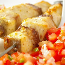 Yugoslavian Fish Skewers With Serbian Tomato Relish