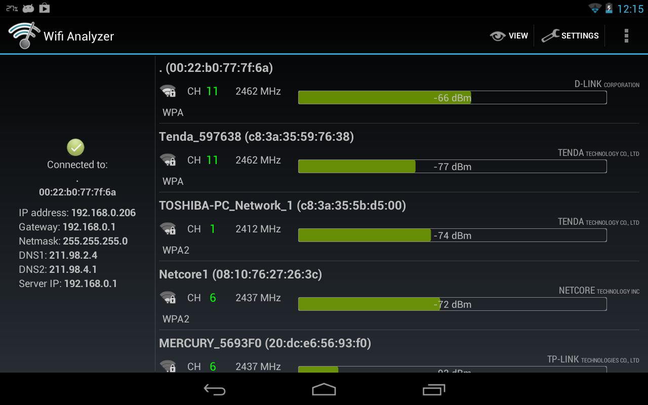Wifi Analyzer Screenshot 10