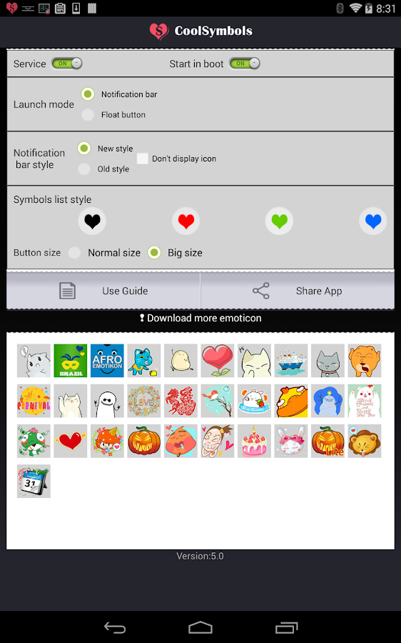 COOL SYMBOLS PRO ( Emoticon ) Screenshot 8