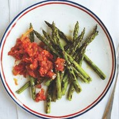 Roast Asparagus with Tomato Relish from 'Family Table'