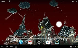 Screenshot of Paris winter LWP