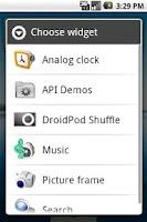Screenshot of DroidPod Shuffle Black