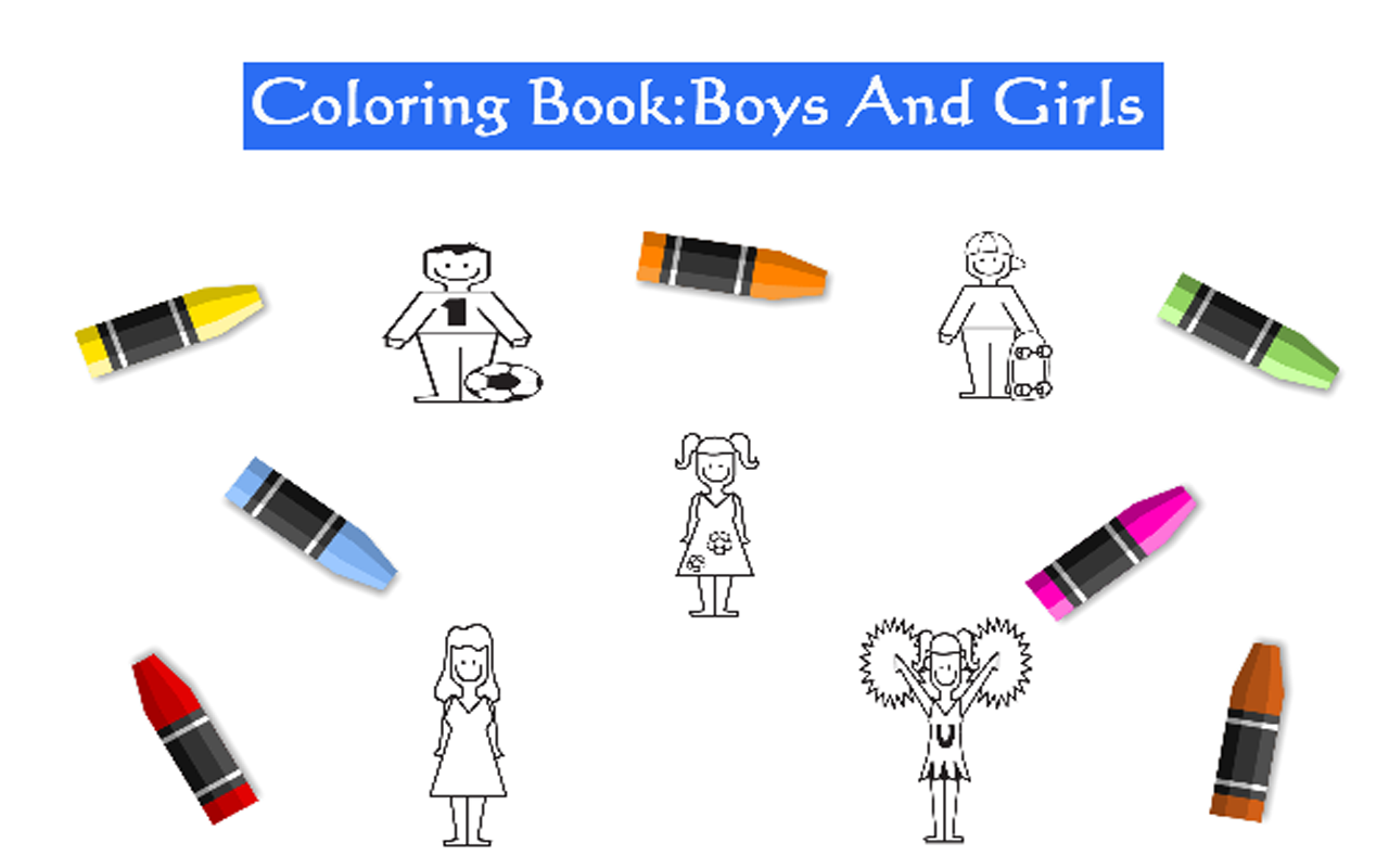 Download Coloring Book Boys And Girls For PC