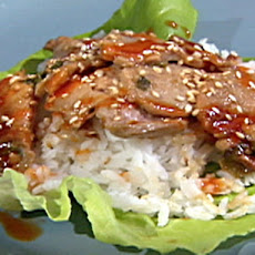 Korean-Style Pork Wraps with Chili Sauce