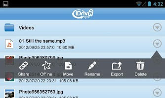 Screenshot of IDriveSync