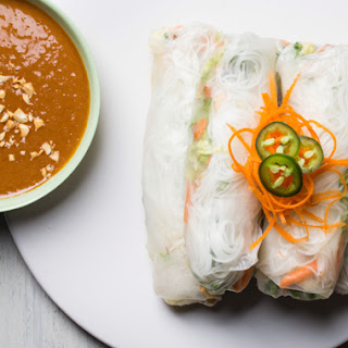 Spicy Summer Rolls with Peanut Dipping Sauce