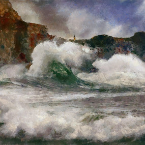 Angry Seasa by Scott Bennett - Painting All Painting