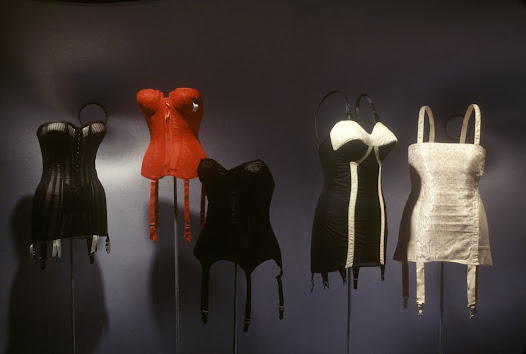 With the fashion revolution of the early 20th century, most women stopped wearing boned corsets and adopted elasticized foundation garments. Why did women abandon corsets? Historical evidence suggests that changes in fashion were directly associated with changing attitudes toward the body. The corset did not so much disappear as become transformed. First it evolved into the girdle and brassiere. Then, more radically, the corset became internalized through diet, exercise, and now also plastic surgery. The hard body replaced the boned corset.