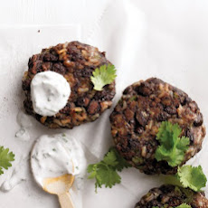 Black-Bean and Brown-Rice Cakes