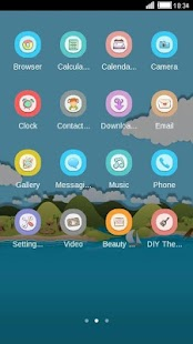 Island C Launcher Theme - screenshot