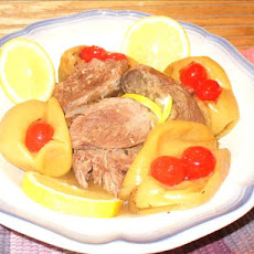 Marinated Leg of Lamb Cooked With Lemon & Apple Juice