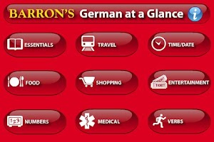 Screenshot of German At A Glance Phrasebook