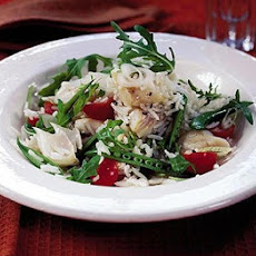 Warm Smoked Haddock, Rocket & Basmati Rice Salad
