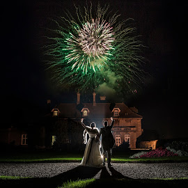 Party Time by Martin Hill - Wedding Reception ( wedding fireworks )