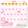 App Pink Knot Emoji Keyboard Theme apk for kindle fire