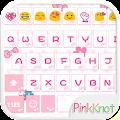 Pink Knot Emoji Keyboard Theme APK baixar