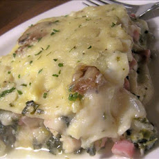 White Chicken and Ham Lasagna