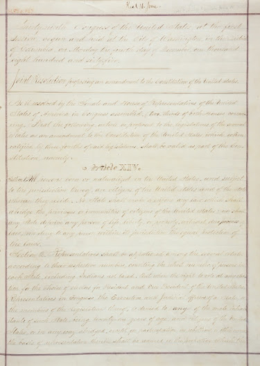 "The <a href=""http://www.gilderlehrman.org/history-by-era/reconstruction/timeline-terms/fourteenth-amendment"">Fourteenth Amendment</a> (1868) ensured citizenship to ""all persons born or naturalized in the United States."""