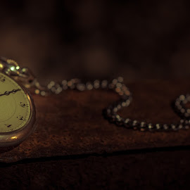 Antique pocket watch by Jørn Lavoll - Artistic Objects Antiques ( railway, clock, watch, night, antique )