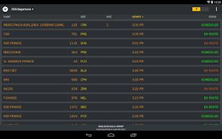 Screenshot of FlightBoard
