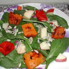 Roasted Butternut Squash and Spinach Salad