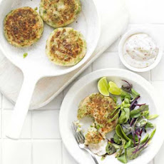 Crushed Pea Fish Cakes With Chilli-lime Mayo