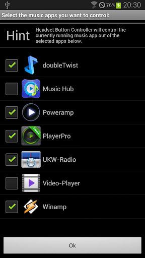 Headset Button Controller - screenshot