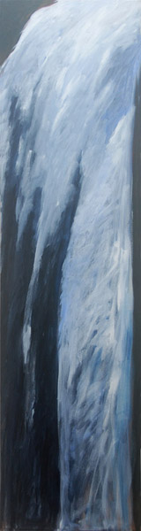 Waterfall <br> Acrylic paint on canvas <br> 72 x 18 in