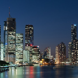 From Kangaroo Point by Punjul Nugraha - City,  Street & Park  Skylines ( skyline, brisbane, australia, landscape, city, night )