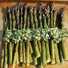 Grilled Asparagus with Almond-Parsley Gremolata