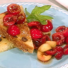 Fresh Cherries with Semolina Toast and Rhododendron Honey