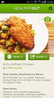 Screenshot of HealthyOut Healthy Meal Finder
