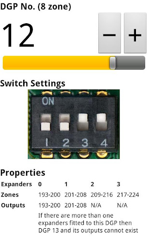 Expander Dip Switch Settings