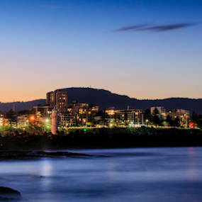 Wollongong Twilight by Bradley Rasmussen - City,  Street & Park  Skylines ( water, canon, wollongong, waterscape, lighthouse, sea, ocean, nsw, seascape, ef 24-70, landscape, 6d, australia, sunrise )