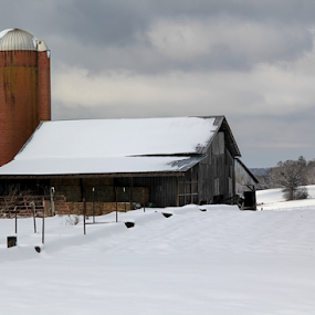 Snow Day On The Farm by Ann Allison-Cote' - Buildings & Architecture Other Exteriors