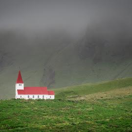 Vik i Myrdal Church by David Long - Landscapes Mountains & Hills ( vik i myrdal church, iceland, vik )