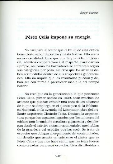 """Libro de Rafael Squirru """" Libros y cuadros """" textos sobre Pérez Celis"""