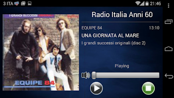 Screenshot of Radio Italia Anni 60