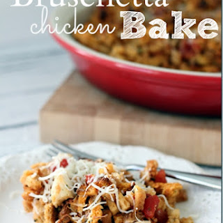 Bruschetta Chicken Bake Casserole