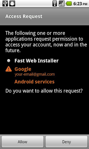 fast-web-installer for android screenshot