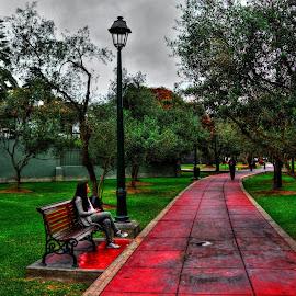 cuando en Lima,Peru se nubla....el parque de Los Olivos288/365 by Jose German - City,  Street & Park  Street Scenes