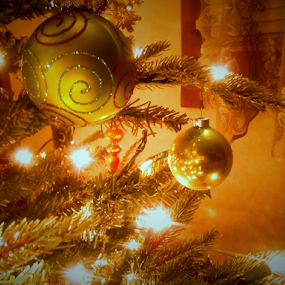 Old fashioned Christmas Tree by Liz Pascal - Public Holidays Christmas