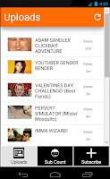 Screenshot of PewDiePie's Uploads + More!