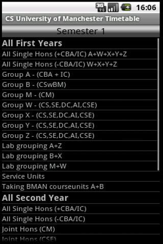 CS Manchester Timetable