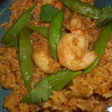 Ginger Shrimp and Pea Pod Stir Fry