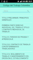 Screenshot of Código del Trabajo Colombia