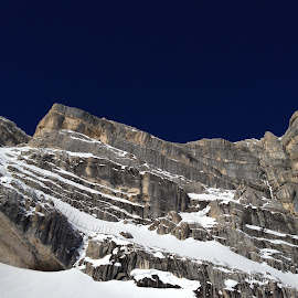 Great wall by Mario Horvat - Landscapes Mountains & Hills ( vrh, sneg, cortina, blue sky, mountain, dolomiti, snow, snijeg, summit, top,  )