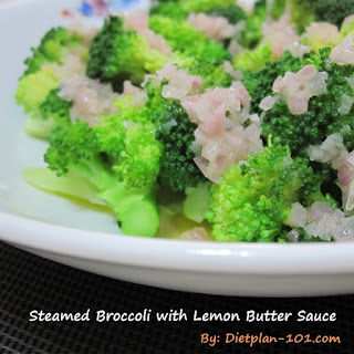 Steamed Broccoli with Lemon Butter Sauce (for Atkins Diet Phase 1)
