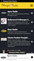 Screenshot of Bhangra Radio
